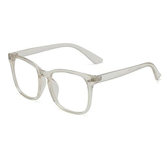 Meijunter Rétro Vintage Des lunettes pour Femme et Hommes Carré Lentille  claire Mode Cadre Lunettes e25a25c914cd