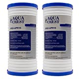 2 Pack AQUACREST 3M Aqua-Pure AP810 Whirlpool WHKF-GD25BB Replacement Whole House Water Filter (Package May Vary)