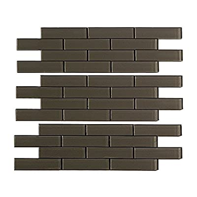 Aspect Peel and Stick Matted Glass Backsplash Kit for Kitchen and Bathrooms