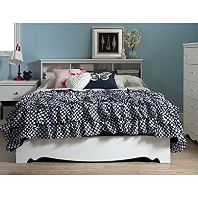 "South Shore 54"" Crystal Mates Bed with 3 Drawers, Full, Pure White"