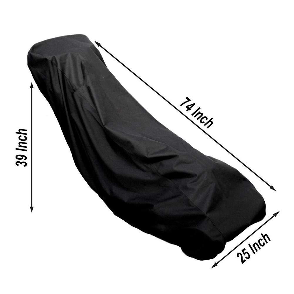Couvercle de tondeuse imperm/éable Oxford en polyester 420D ultra-r/ésistant 188 x 99 x 64 cm Housse de Protection pour tondeuses /à Gazon Housse de Tondeuse