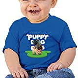 Puppy Dog Lovely Pals Baby Ideal Short Sleeve Tank Top Cotton T-Shirt RoyalBlue 24 Months