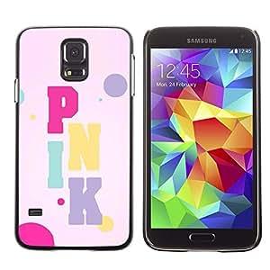 Caucho caso de Shell duro de la cubierta de accesorios de protección BY RAYDREAMMM - Samsung Galaxy S5 SM-G900 - Color Text Artist Music Bubbles