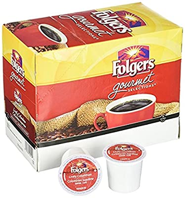 Folgers 100% Colombian Coffee, Medium-Dark Roast, K-Cup Pods for Keurig K-Cup Brewers