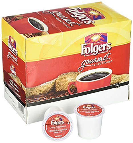 - Folgers Gourmet Selections 100% Colombian Coffee K-Cups 1Pack (100 Pod Each)