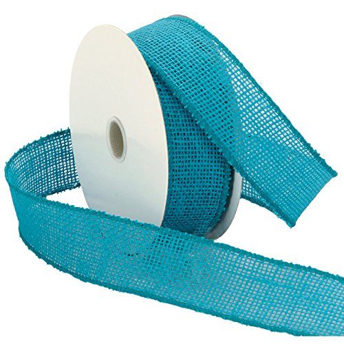 Morex Ribbon Burlap Wired Ribbon, 1-1/2-Inch by 10-Yard Spool, (Wire 10 Yard Spool)