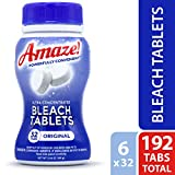 AMAZE! Bleach Tablets Ultra Concentrated Bleach Tablets for Laundry and Home Cleaning. (Original, Case of 6 Bottles)