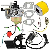 honda gx160 carburetor kit - Butom GX160 GX200 5.5HP 6.5HP Carburetor with Tune Up Kit for Honda Engine WP30X Water Pump 16100-ZH8-W61