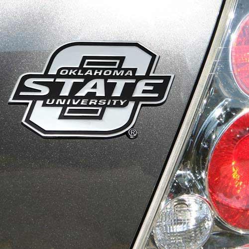 NCAA Oklahoma State Cowboys Premium Metal Auto Emblem