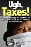 Ugh, Taxes!: Twenty top tax tips, you won't find on the internet, to pay less in taxes now and in the future