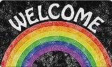 Toland Home Garden 800452 Welcome Rainbow Doormat, Multicolor