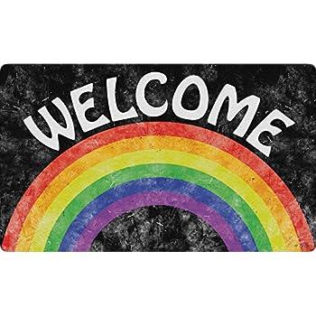 Toland Home Garden 800452 Welcome Rainbow Doormat, 18