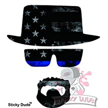 2pcs - USA Flag Breaking Bad Heisenberg Mr.White Sticker Aufkleber car decal laptop ipad mac truck