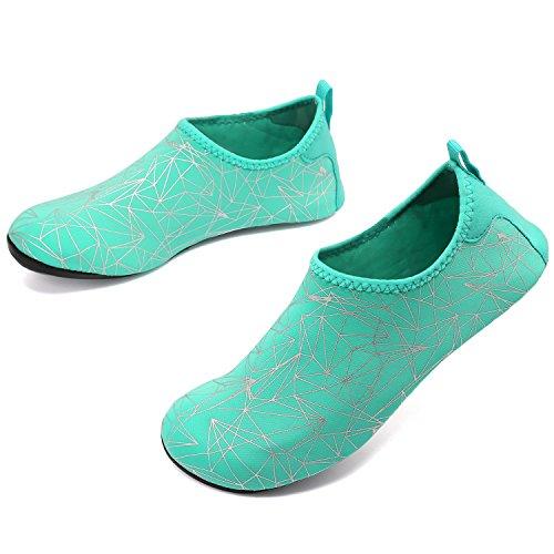 for Geometricgreen Quick Shoes Aqua Men Beach VIFUUR Drying Exercise Shoes Yoga Unisex Women Pool Water Pw51qU56