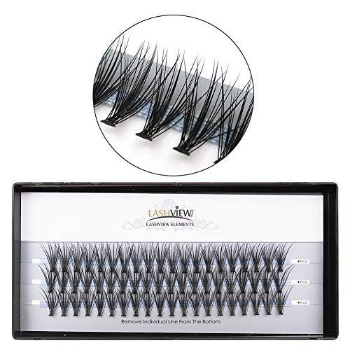 - LASHVIEW 0.10mm 20 Root 12mm Medium Length Soft Individual Cluster Eyelashes Mink Fake Eyelashes Extension Handmade Grafting False Eyelashes Individual False Eyelashes Knot-free Natural Long