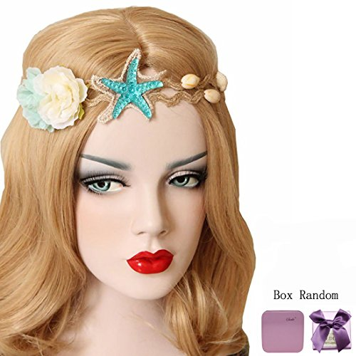 Bodermincer Mermaid Sea Star Starfish Hairbands Mermaid Hair Accessories Headband Mermaid Costume (Flower Starfish)