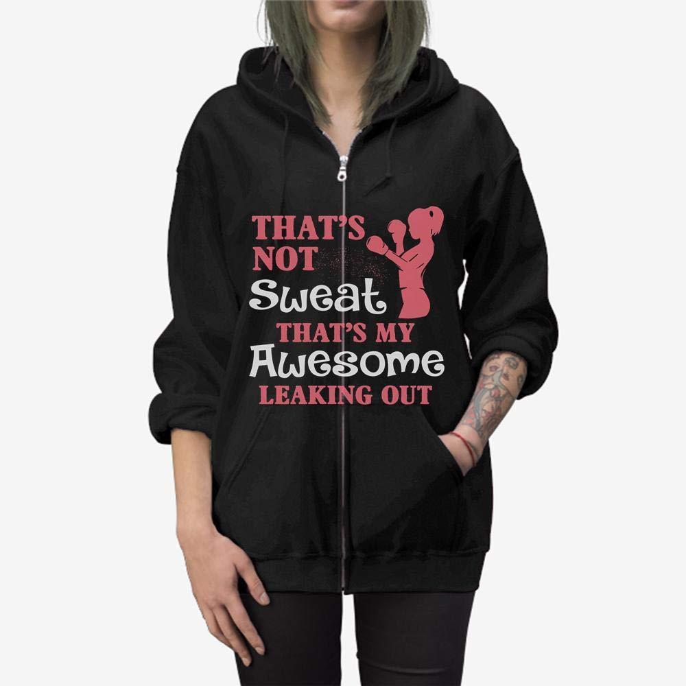 Funny Gift Birthday Awesome Tee Kick Boxing Girl Zip Hooded Sweatshirt