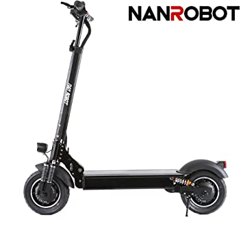 bf1b7194eabc NANROBOT D4+ 2000W Adult Electric Scooter Lightweight Foldable with 40  Miles Long-Range Battery up