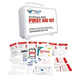 First Aid Kit 25 Person: Complete ANSI · Emergency Preparedness Kit · Business · Home · Camping · Boat · Outdoors · Sports