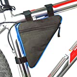 Quaanti Bike Bicycle Cycling Bag Front Tube Frame Phone Waterproof Bicycle Bags Triangle Pouch Frame Holder Bycicle Accessories (Blue) For Sale