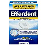 Efferdent Denture Cleanser, Overnight Power Mint 78-Count (Pack of 3)