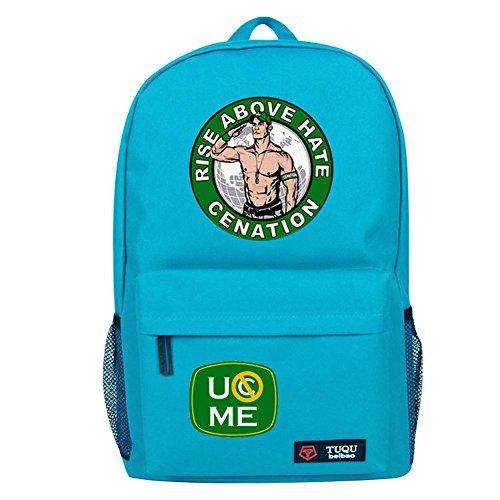 YOURNELO Cool WWE World Wrestling Federation Backpack Canvas School Bag Bookbag (B Skyblue) by YOURNELO