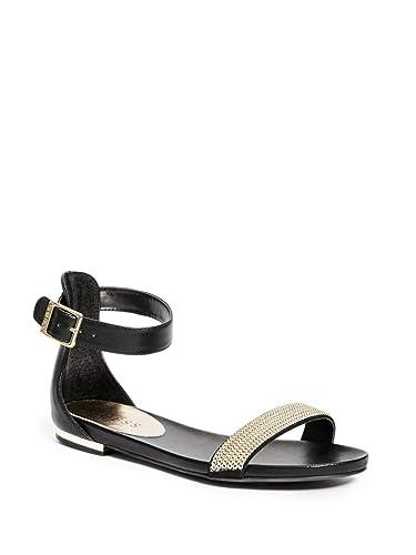 57c2a3de2f740 Amazon.com | GUESS Factory Mayfield Ankle-Strap Sandals | Sandals