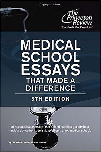 Medical school essay review service