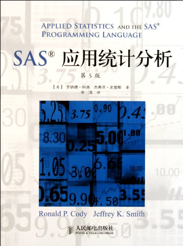 Applied Statistics and the SAS Programming Language, 5th Edition