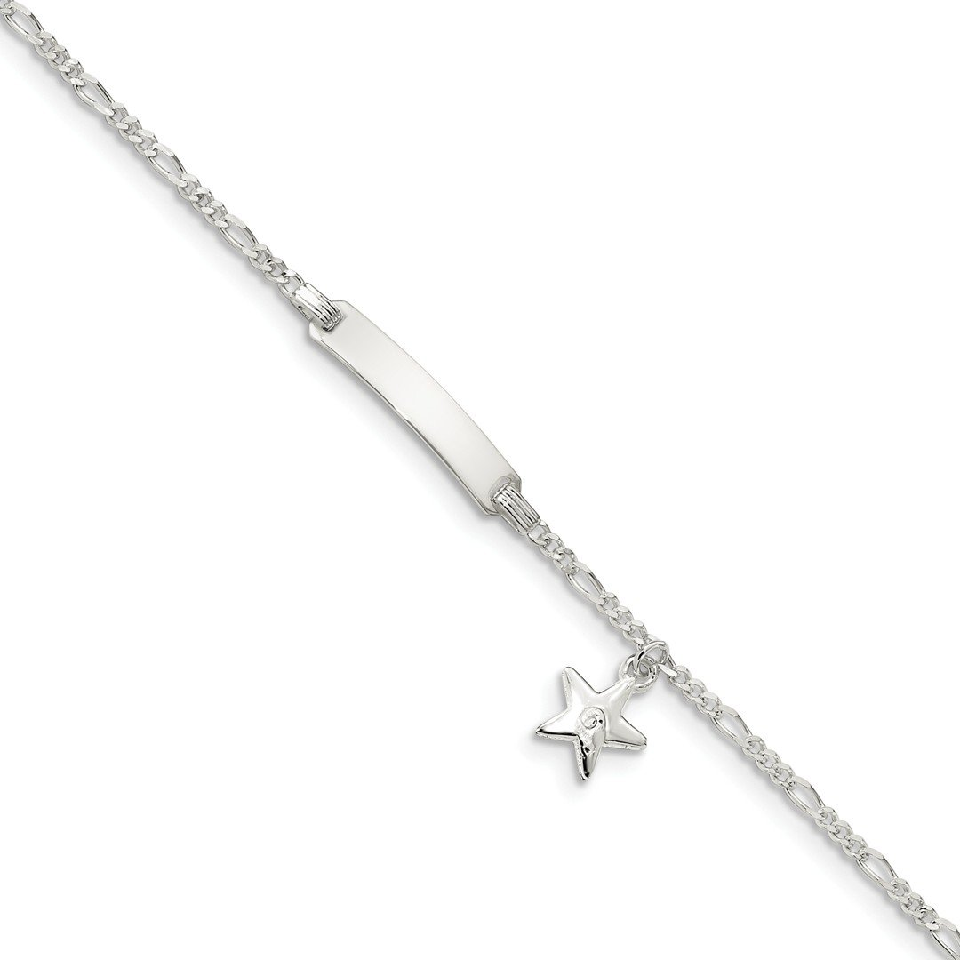 ICE CARATS 925 Sterling Silver Childrens Id Star Charm Bracelet 6 Inch Fine Jewelry Ideal Gifts For Women Gift Set From Heart