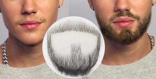 ExGizmo Fake Man Mustache Word Simulation Of 100% real Human Hair Makeup Facial Hair Wig ()