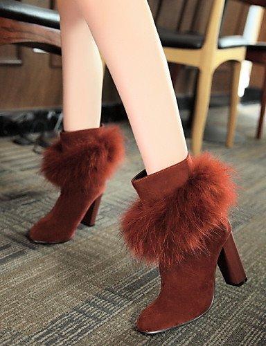 Redonda A Zapatos us9 Red Uk8 Xzz Robusto Mujer Beige 5 5 Uk8 Tacón Punta 10 Vestido Casual Ante Negro Sintético Botas De Moda La 5 Cn43 Cn42 Eu41 us10 8 Eu42 5 Rojo Black Uk7 YB8qcdyU8
