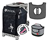 Zuca Sport Bag - Ice Queen with Gift Lunchbox and Seat Cover (Gray Frame, Gray Lunchbox)