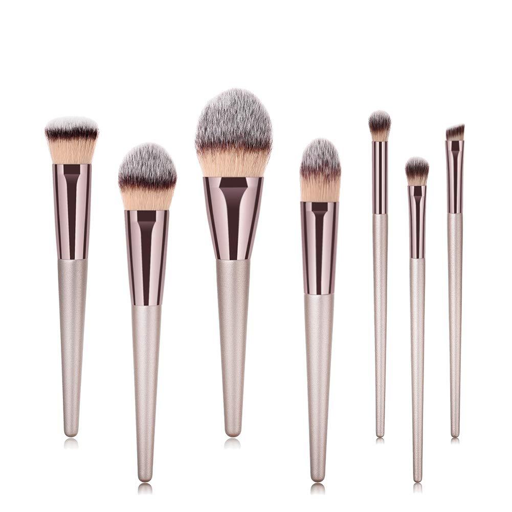 CINEEN Make up Pinselset 12 Stück Schmink Pinsel Kosmetikpinsel Travel Make-up Cup Kosmetikkoffer für Mit Leder Schutzhülle
