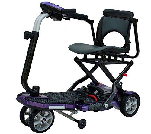 EV Rider TransportFolding Mobility Scooter w,Arm Rests, Upgraded 12V15Ah Long Range Batteries & 3 Color Choices! (Violet)