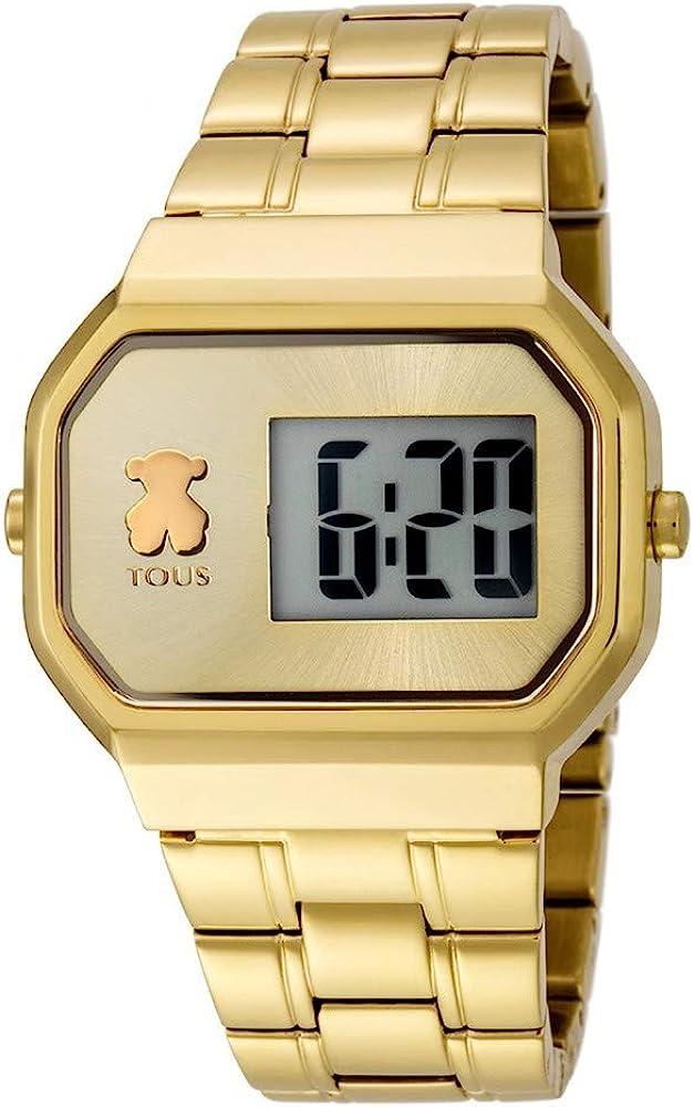 TOUS Reloj D-Bear Digital de Acero