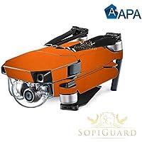 SopiGuard APA Copper Gloss Precision Edge-to-Edge Coverage Vinyl Skin Controller Battery Wrap for DJI Mavic Pro