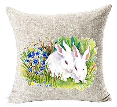 Happy Easter Cute Animal Adorable Watercolor Rabbit Bunny Co