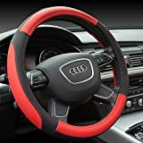 New Universal 38cm Leather Car Steering Wheel Cover 5 Colors by Bcn
