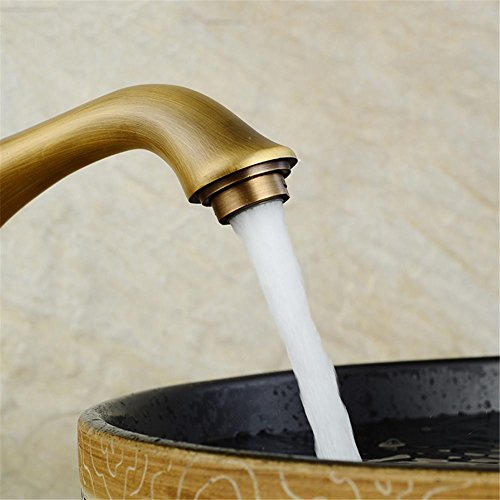 GAOF Top grade Unique Deck Mounted Bathroom & Kitchen Basin Faucet Antique Pattern Mixer Tap Bathroom Faucet water tap fau cetHJ-6639F delicate