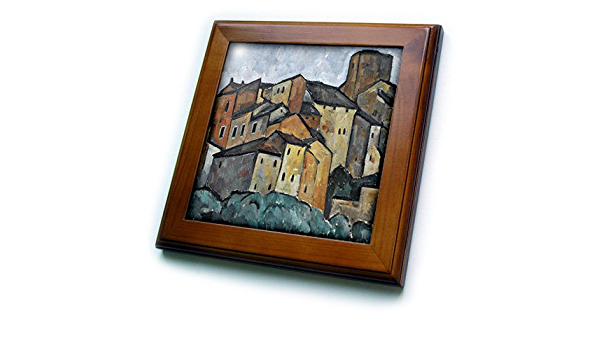 3drose Ft 52279 1 Vintage 1913 San Gimignano Italy Painting By Alexander Kanoldt Framed Tile 8 By 8 Inch Home Kitchen