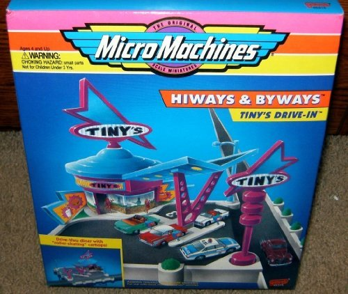 Micro Machines Tiny's Drive-In Hiways & Byways Playset by Galoob Micromachines