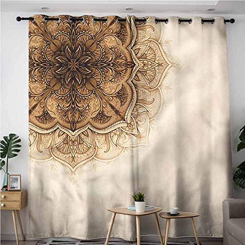 (XXANS Curtains for Living Room,Henna,Ottoman Culture Elements,Grommet Curtains for Bedroom,W72x108L)