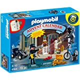 PLAYMOBIL Advent Calendar Police with Cool Additional Surprises