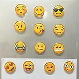 mini fridge wood cover - Yeefant Mixed 5 Pcs Cartoon Emoji Magnetic Collage Emotion Magnets Fridge Sticker Refrigerator for Child Preschool School Adult Toddlers,Random