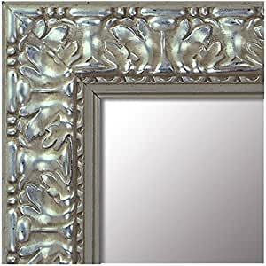 Espejo de Madera Fabricado en España- Tamaño 64x164 cm. Espejo Decorativo de Pared Modelo 940 Plata Barroco. Ideal para Salón, Dormitorio, Vestidor, Baño o Pasillo.: Amazon.es: Hogar