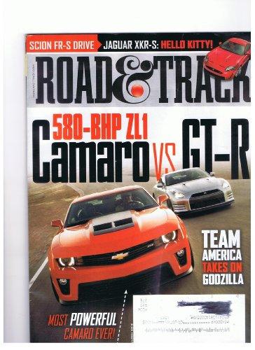 Road & Track Magazine March 2012 580-bhp Zl1 Camaro Vs. Gt-r, Most Powerful Camaro Ever Team America Take on Godzilla