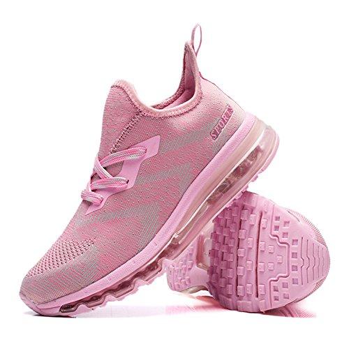 Basse Leggero Rosa Casual Donna Sneakers Unisex da Air e Traspirante Sportive all'Aperto Running Scarpe Ginnastica Interior Uomo Corsa Fitness MIMIYAYA g7qna6