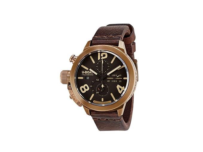 Reloj Automático U-Boat Classico, Bronce, 50mm., Correa de piel, 8064: U- BOAT: Amazon.es: Relojes