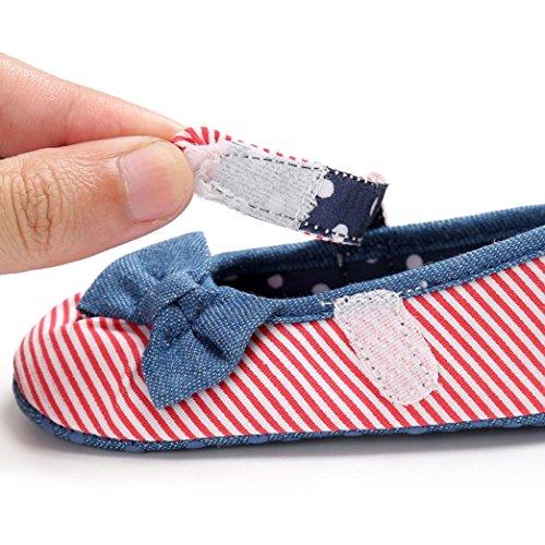 Tefamore El niño del bebé embroma los zapatos recién nacidos del niño suave del pesebre de la muchacha Rojo